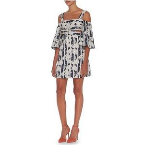 Alexis Dresses - ALEXIS Floral Striped Cold Shoulder Dress 💫 Large